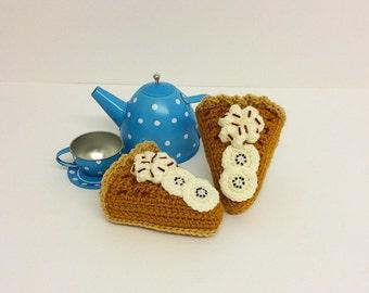 Play Food Crochet Banoffee Pie, Gift, Amigurumi