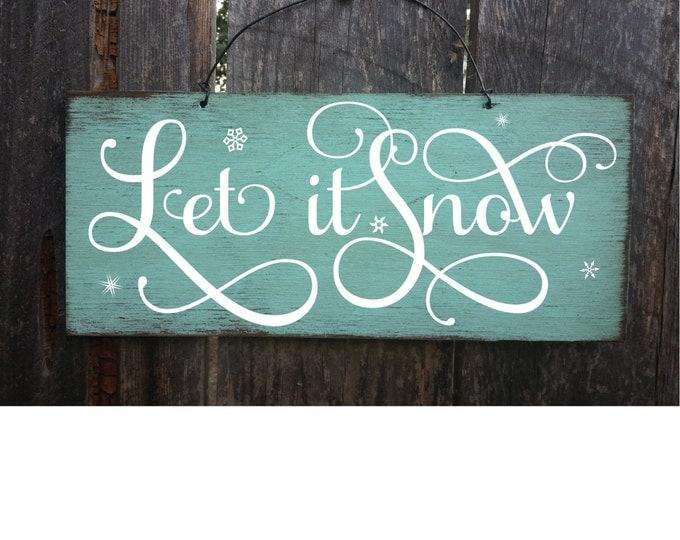 let it snow, let it snow sign, winter decorations, winter wall decor, winter wedding decor, winter wonderland, cabin decor, ski house decor