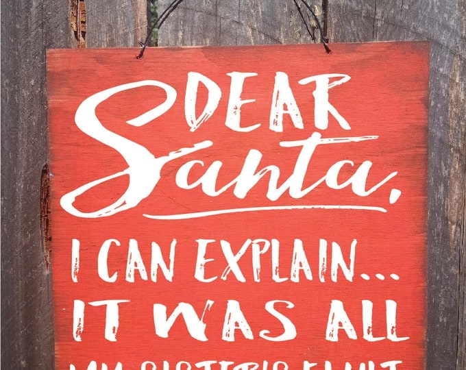 Christmas decor, Christmas decoration, Christmas wall art, Christmas wall decor, Santa Sign, Christmas sign, rustic Christmas decor