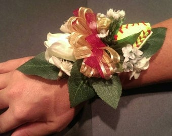 Baseball boutonniere and Softball corsage package