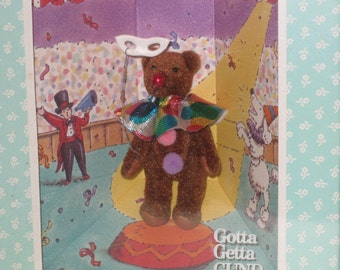 1994 GUND The Littlest Bears - Clown #7005 Miniature in Box
