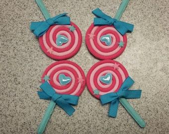 Pink Lollipop Hair Clip