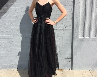 vintage 50s prom tulle holiday special occasion dress