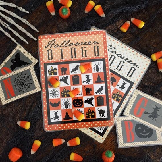 Halloween Bingo Game. Digital Download. 12 Game Cards plus calling cards