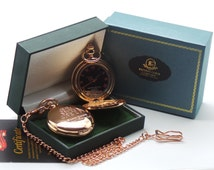 Sir Winston Churchill Signed Rose Gold Pocket Watch in Luxury Gift box Case with Certificate Engraved Quote and autograph British WW2