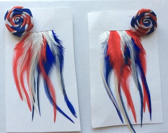 24 light feathers + 2 flowers buttonholes