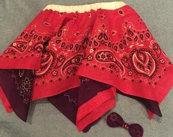 Reversable Bandana Skirt