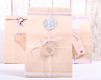 Paper Bags for Gift, 20pcs,DIY,wrapping paper,gift,present,handmade gift,21cmx13cm,natural,kraft,tag,Birthday,Christmas,wedding