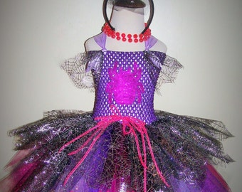 Spider Queen/Witch, Tutu Dress Costume.  Great for Halloween, Parties, Parades, Photo shoots and more.