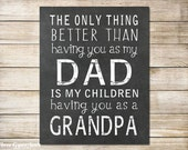 PRINTABLE Father's Day Gift From Daughter The Only Thing Better Than Having You As My Dad Grandpa Gift Father's Day Gift For Grandparent