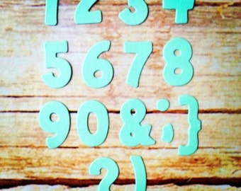 Numbers set cut out. 1 pack of 5 set (total 75pcs). Perfect for any of your projects!