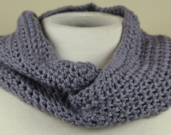 Hand knit Infinity Scarf | Grey Days Just Got Brighter