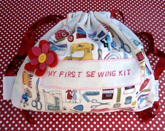 My first sewing kit / a fun starter set for crafty kids / in Sewing collage/kids first sewing kit/starter set for sewing/needle-craft/
