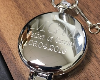 Personalized Pocket Watch Set, Groomsman Gift, Groomsman Watch,  Best Man Pocket Watch, Gifts for Groomsmen, Engraved Watch, Best Man Gift