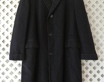 VARSITY TOWN Coat Men's MOD 50's Super Soft Oriental Cashmere Vintage MJ176