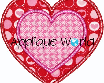 Heart Within Heart Applique