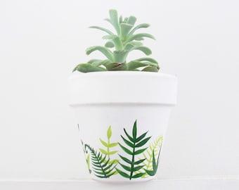 Hand Painted Plant Pot - Jungle