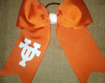 UT Hair Bow with 3 or 4 inch Ribbon