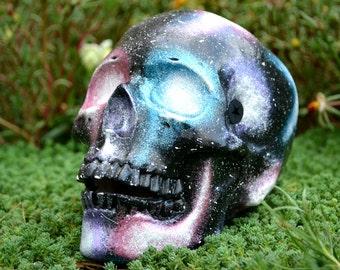 Space Ceramic Night Stars Cosmos Handmade Sugar Skull