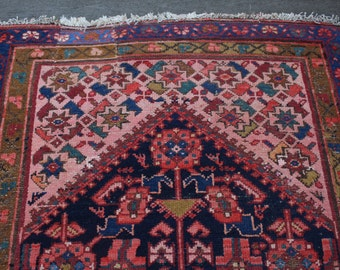 """SALE! 3'x13'3"""" Vintage Persian Malayer Runner"""