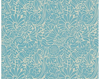 Batik Blue Floral Contact Paper