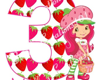 Strawberry Shortcake DIGITAL iron on IMAGE *Made to Order*