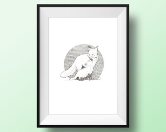 Happy Foxes A4 Print