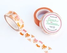 Washi tape Foxes 15mm x 10m