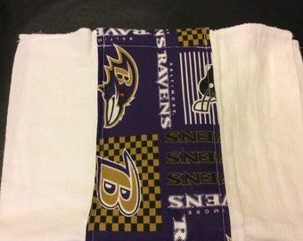 Baltimore Ravens burp cloth