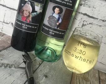 Wine Glass for Teachers Gift. It's 3:30 somewhere!