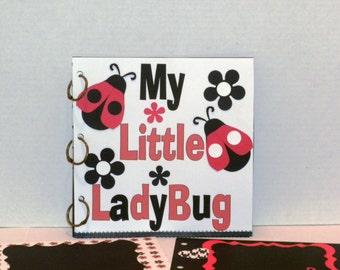 8 x 8 Ladybug Scrapbook Album-Ladybug Album, Handmade Scrapbook Pages, Scrapbooking, Scrapbook, Premade Pages, Die Cut Premade Pages