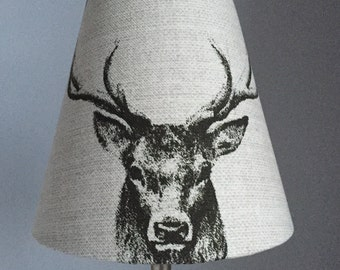 Country Stag Candle Clip Lampshades