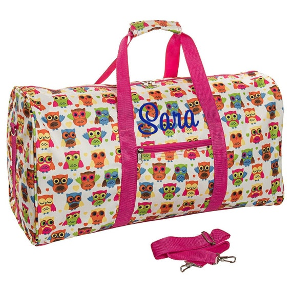 OWL DUFFLE Bag Girls Duffle Bag Girls Overnight Bag Owl