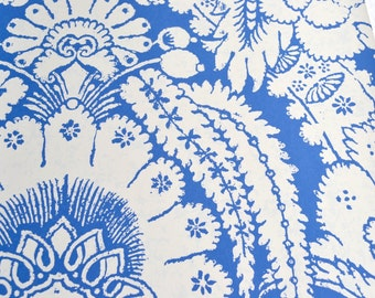 Wallpaper - Cole and Son  Sample Sheet  - 19 x 17  Albemarle Chatterton - Blue and White