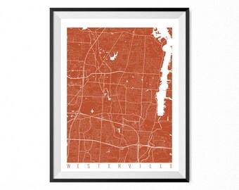 Housewarming gift for couple or family map print for T shirt printing westerville ohio