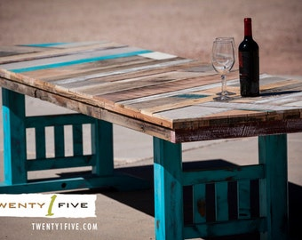 Reclaimed Mission Style Dining Table