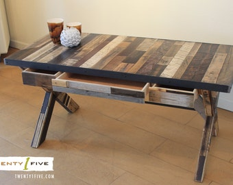 Reclaimed Desk with Drawers