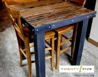 Reclaimed Semi-Truck Plank Pub Table