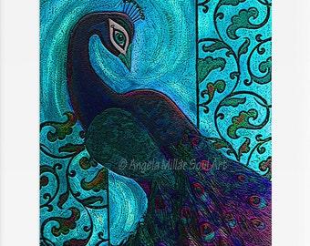 Peacock Wall Decor Etsy