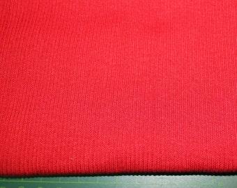 Rib tubular fabrics, Red