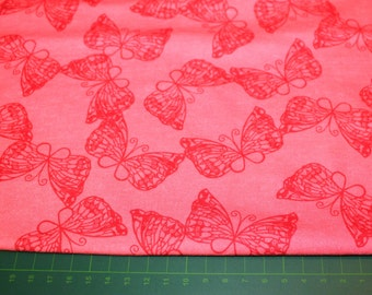 Jersey, pink, red, butterfly