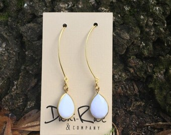 Gem drop earrings - 7 colors available