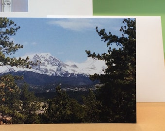 Rocky Mountains, Colorado Western Hikers Theme, Blank NOTE Cards All Occasion NOTE Card with Envelope
