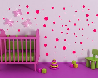 Polka Dot Wall Decal Etsy - Gold dot wall decals nursery