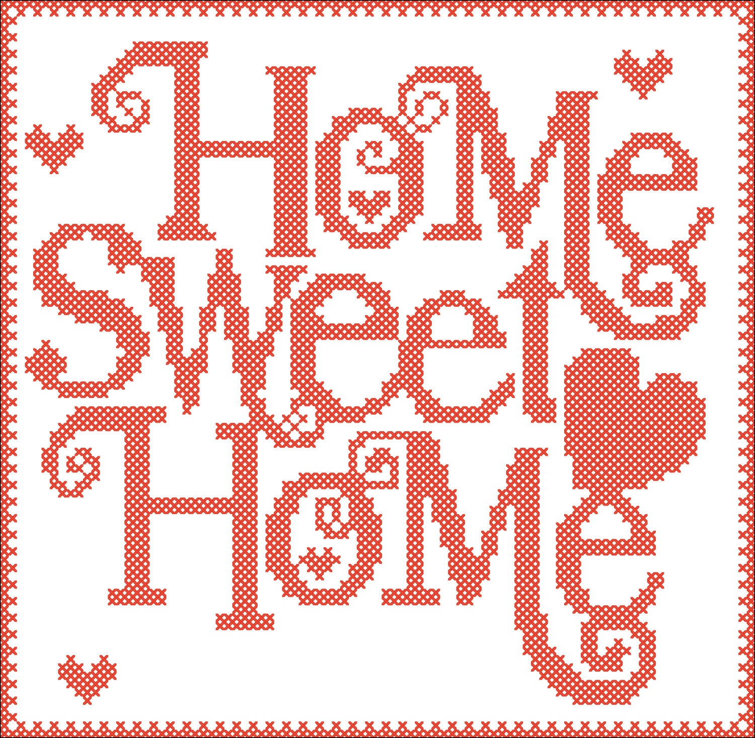 Free Software For You Free Download Sweet Home 3d: BOGO FREE PDF Home Sweet Home Cross Stitch Pdf Pattern