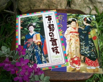 Japan Vintage 8 Postcards Kyoto Maiko Girls