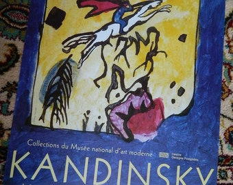 French poster. POSTER exhibition KANDINSKY fine arts of Nantes.