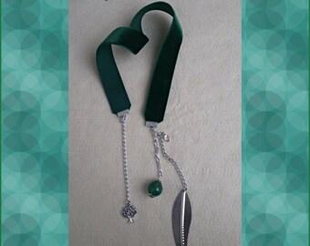 Green Velvet bookmark-Bookmark-bookmark nature stones and pendants