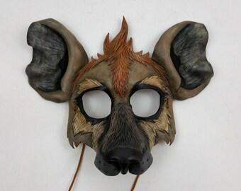 Leather Hyena Mask