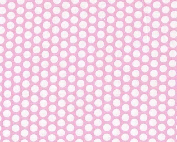 pink polka dot fabric light pink fabric white cotton dot. Black Bedroom Furniture Sets. Home Design Ideas